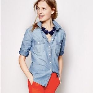 J.Crew | the perfect shirt chambray button up